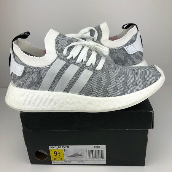 81bb73266c4cc Adidas nmd r2 pk w size 9.5 women s white grey